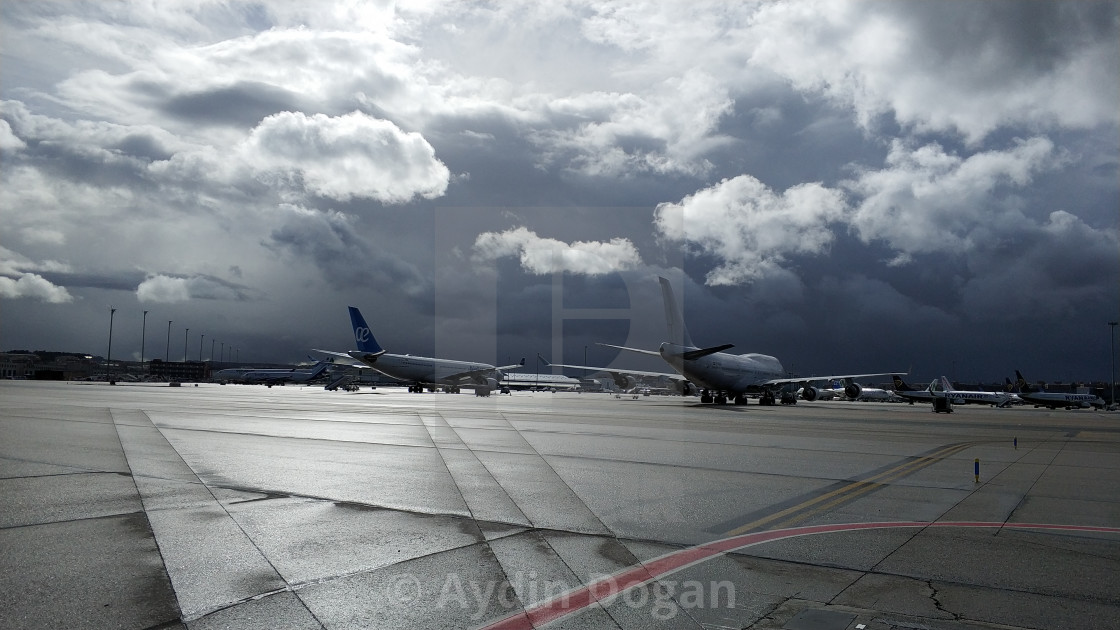 lovely day in madrid airport - License, download or print