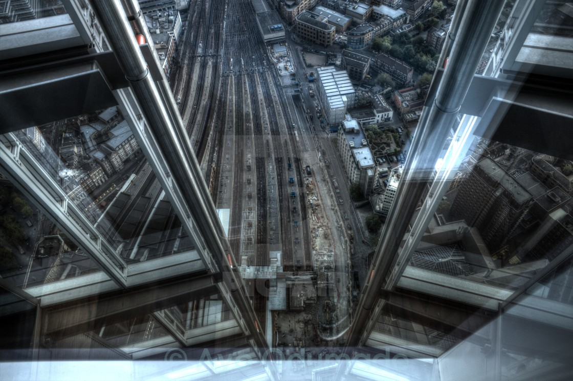 """View from Shard"" stock image"
