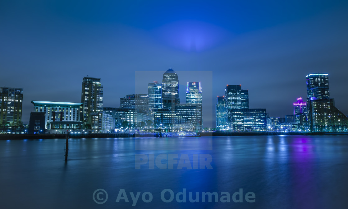 """Canary Wharf on a Spring Evening"" stock image"