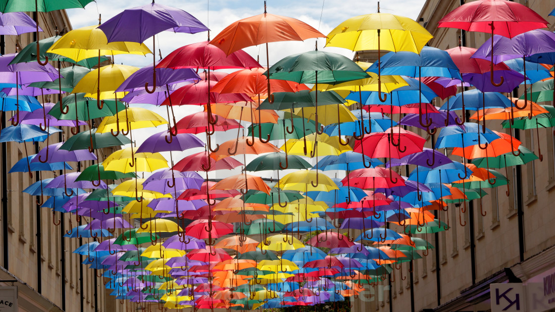 """Bath Umbrellas"" stock image"
