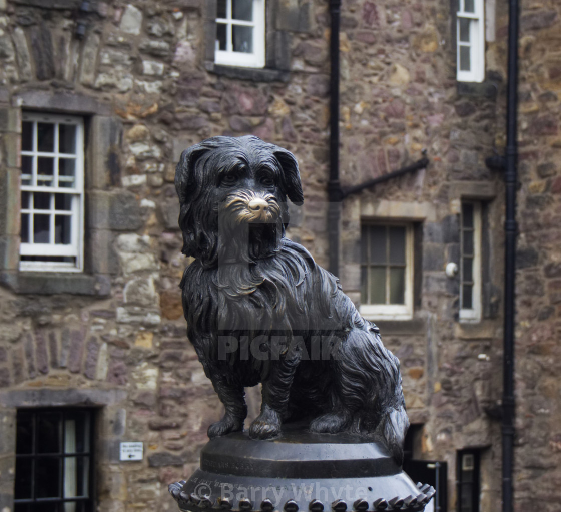 """""""Statue of Greyfriars Bobby"""" stock image"""
