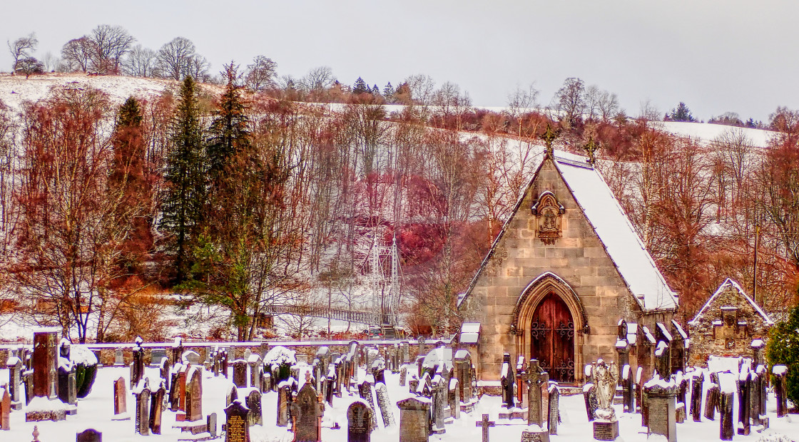 """Wintry Graveyard"" stock image"