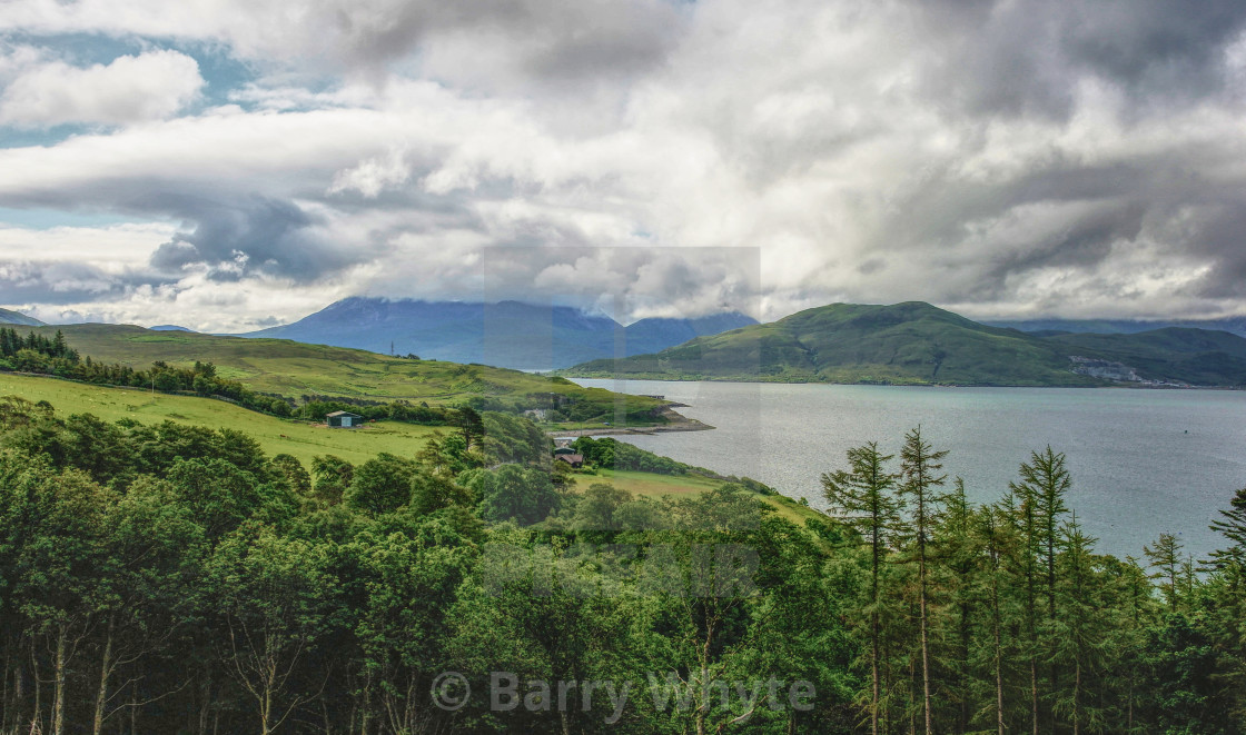 """Cuillin View"" stock image"