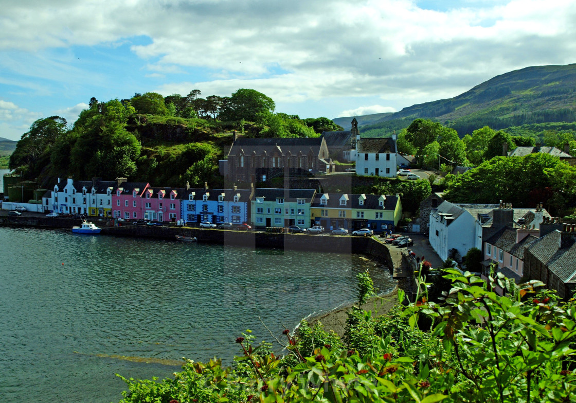 """Portree Harbour"" stock image"