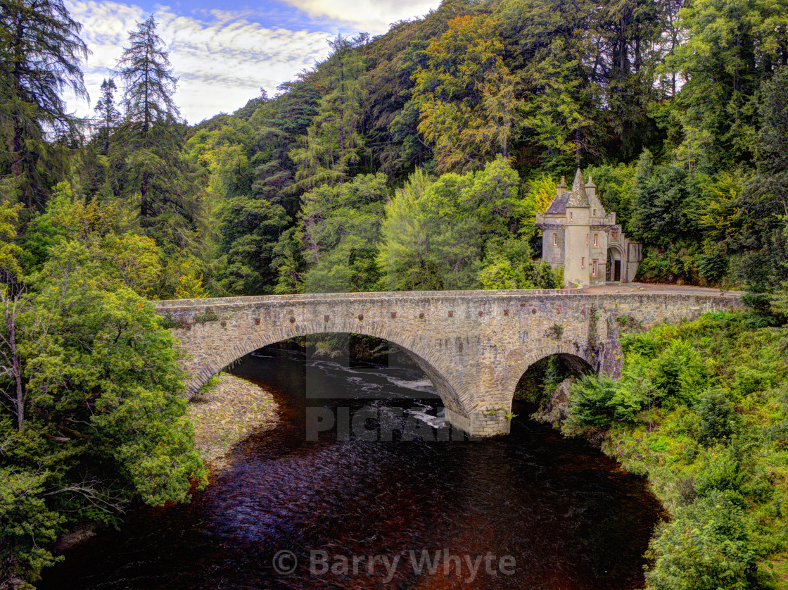 """Gatehouse & Bridge"" stock image"