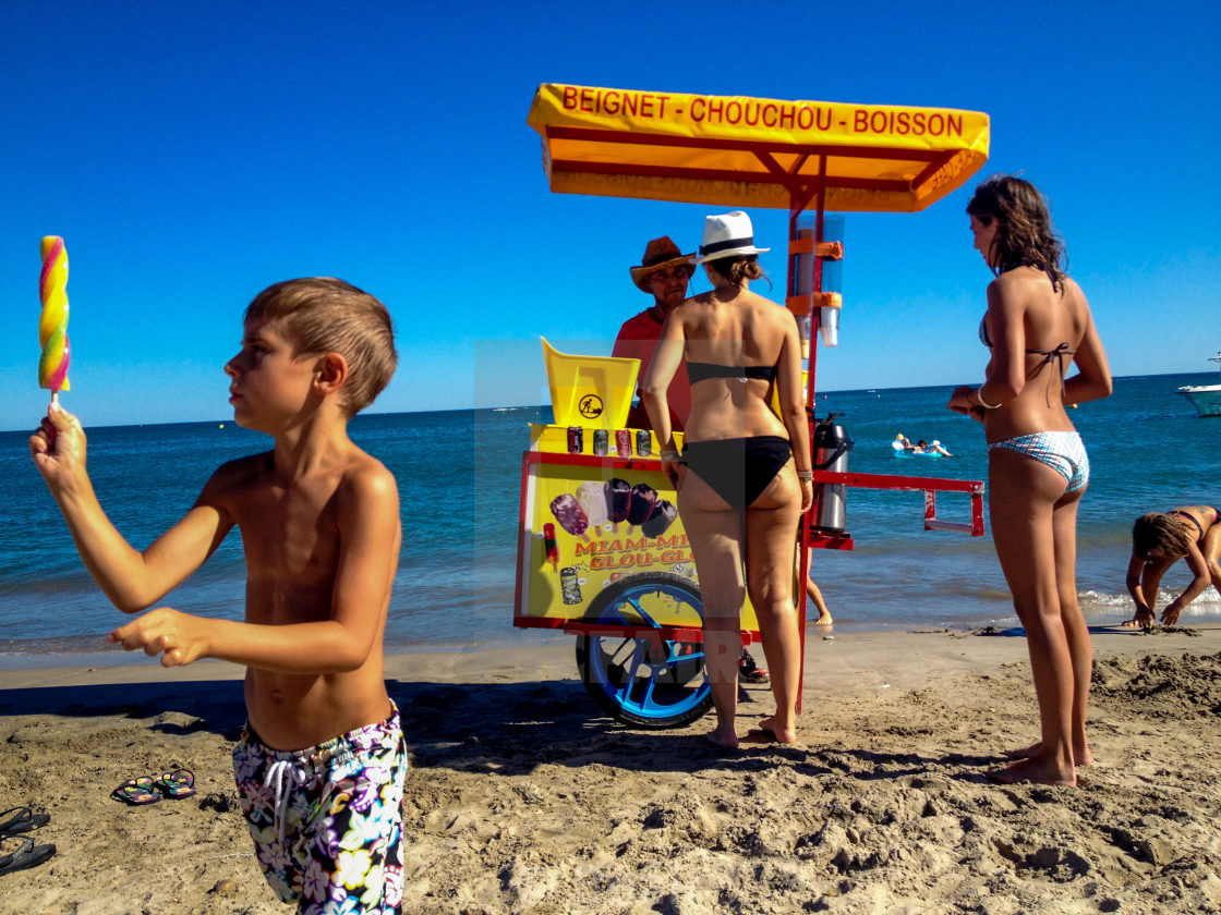 """Icecream by the sea"" stock image"
