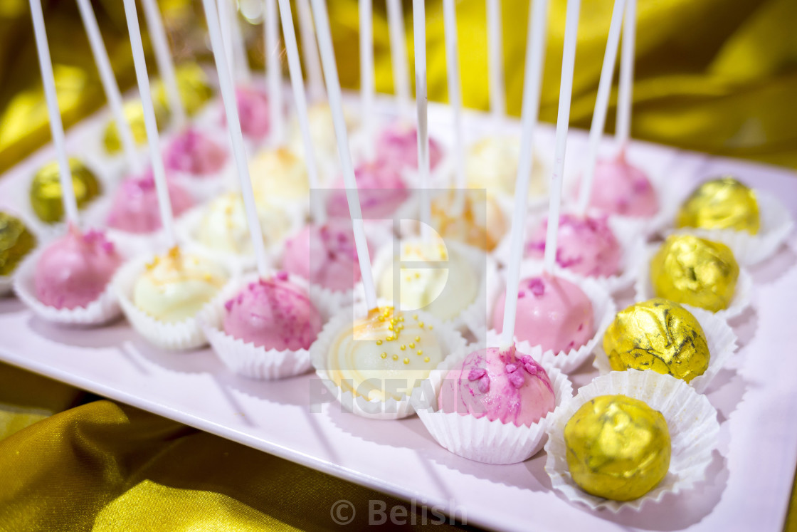 """Candies on a stick"" stock image"