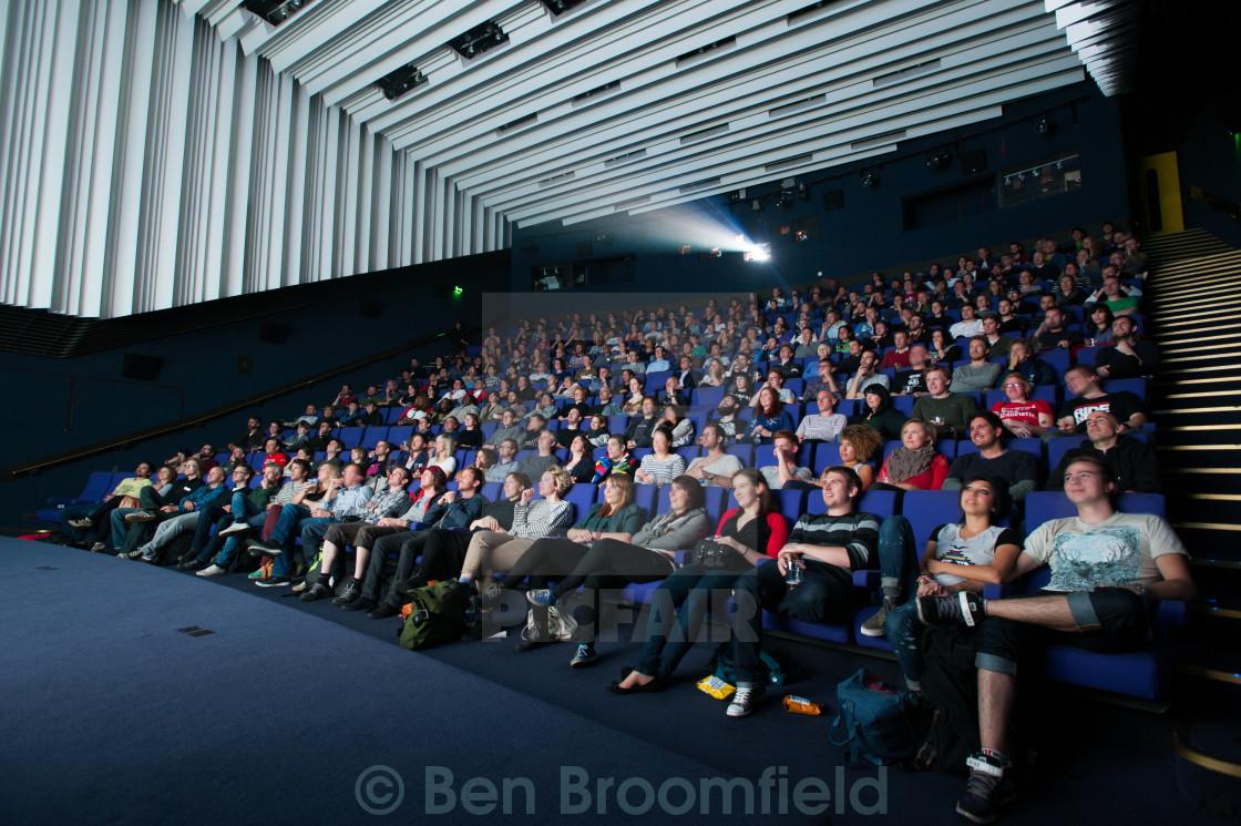 """Cinema Audience"" stock image"
