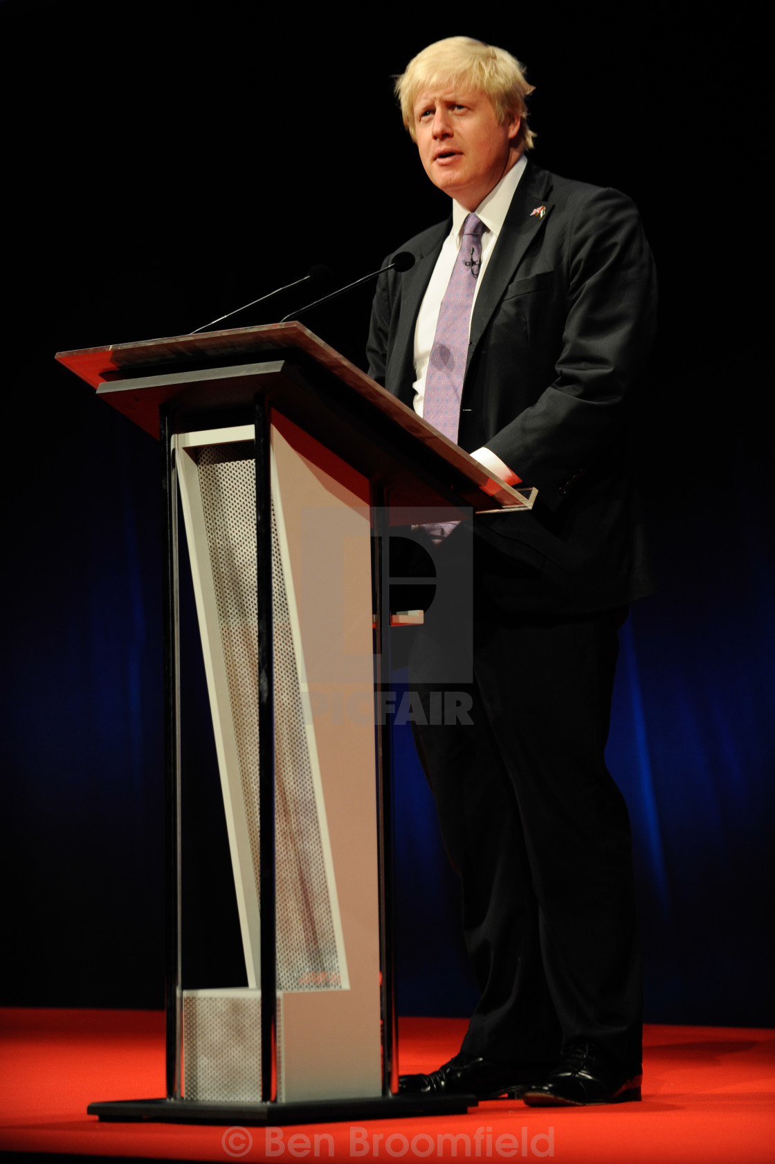 """Boris Johnson Speaking"" stock image"