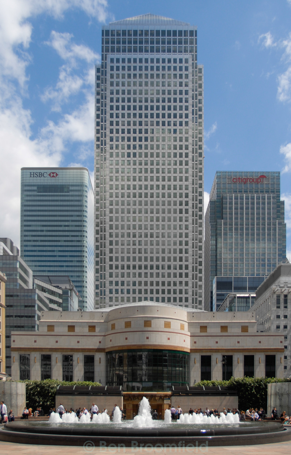 """Canary Wharf Estate"" stock image"