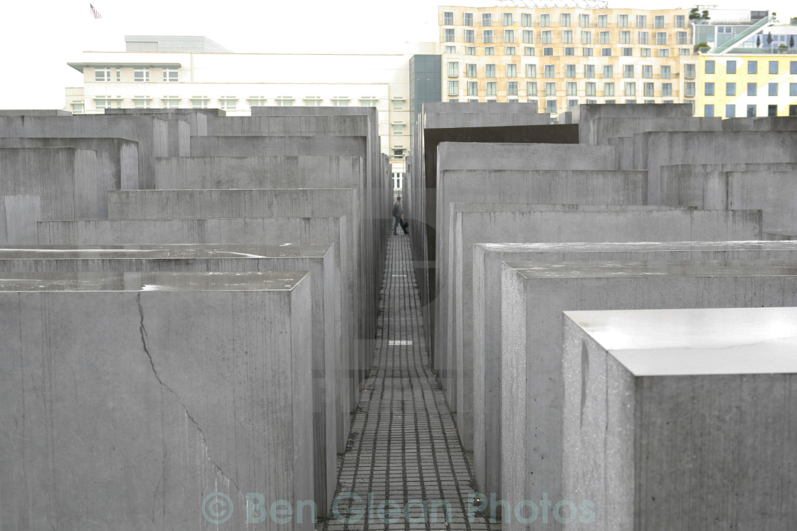 """Holocaust memorial in Berlin, Germany."" stock image"