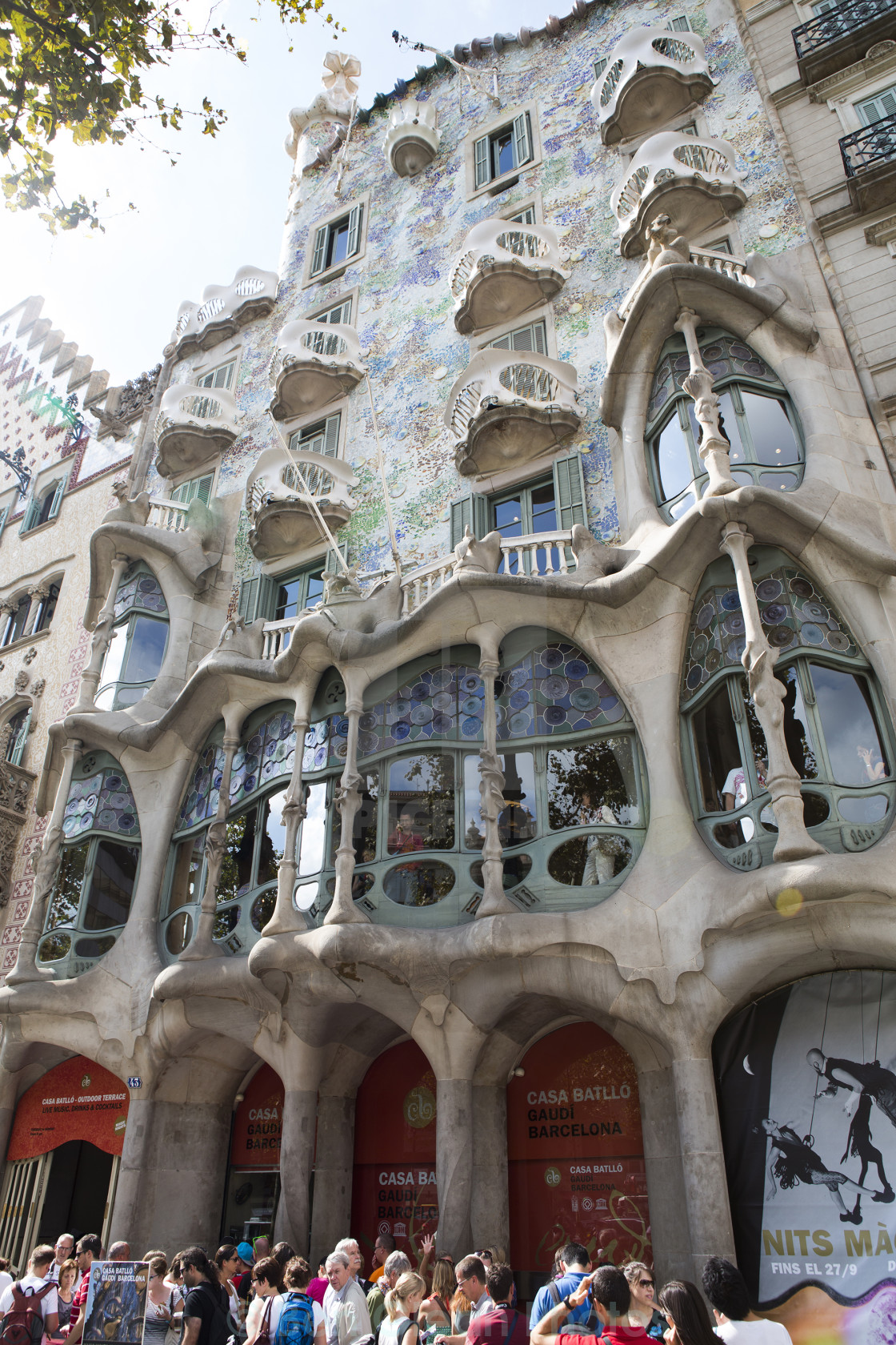 """Gaudi apartments Barcelona, Spain"" stock image"