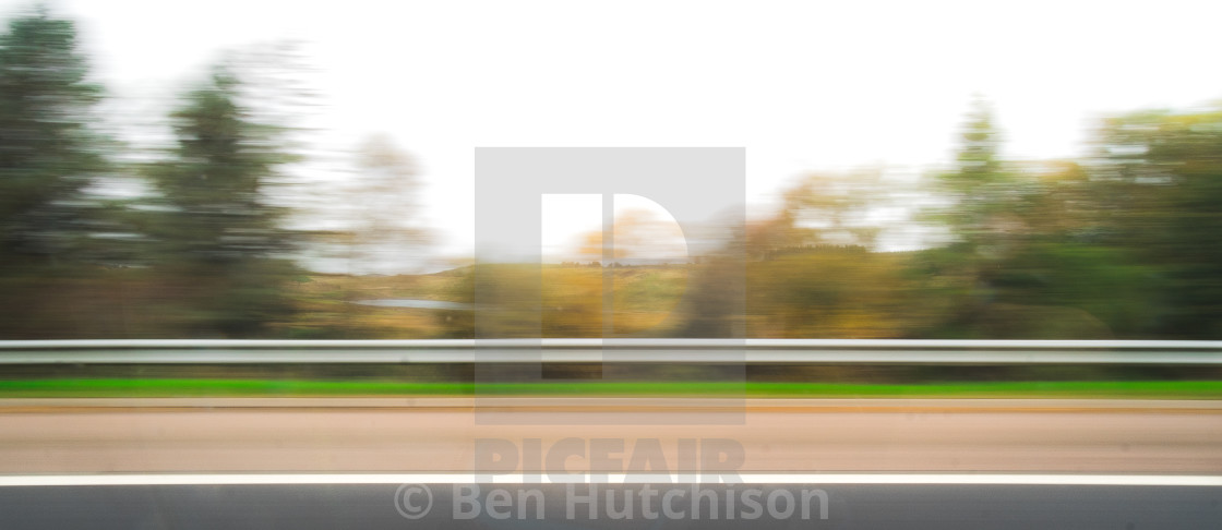 """""""Road side blur"""" stock image"""