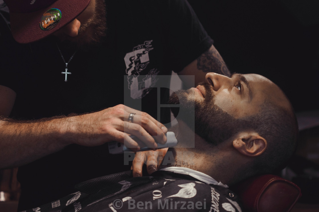 """At the Barbers"" stock image"