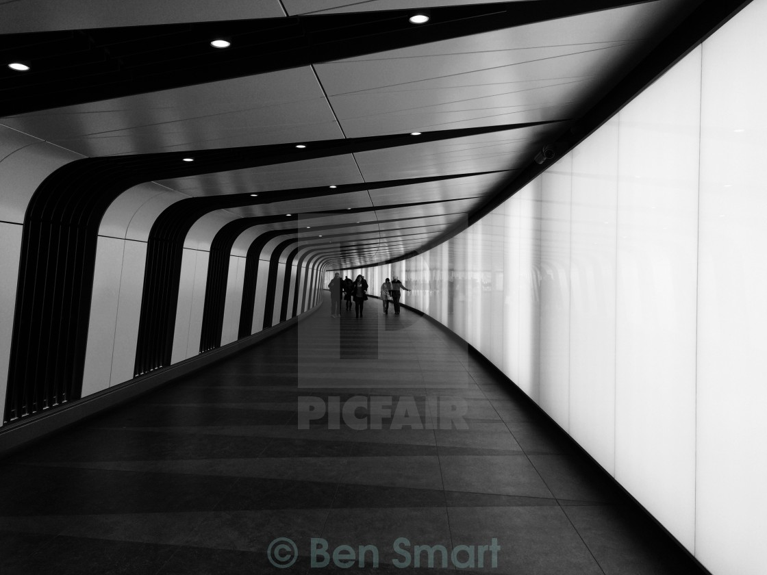 """King's Cross Tunnel"" stock image"