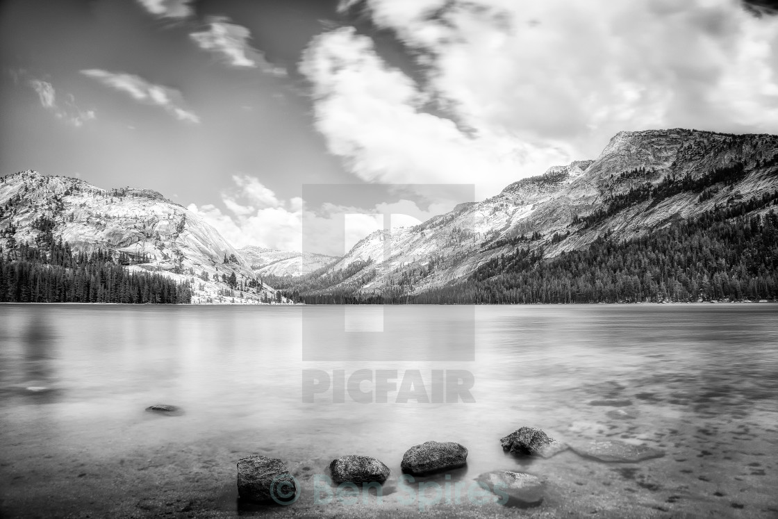 """Tenaya Lake B&W"" stock image"