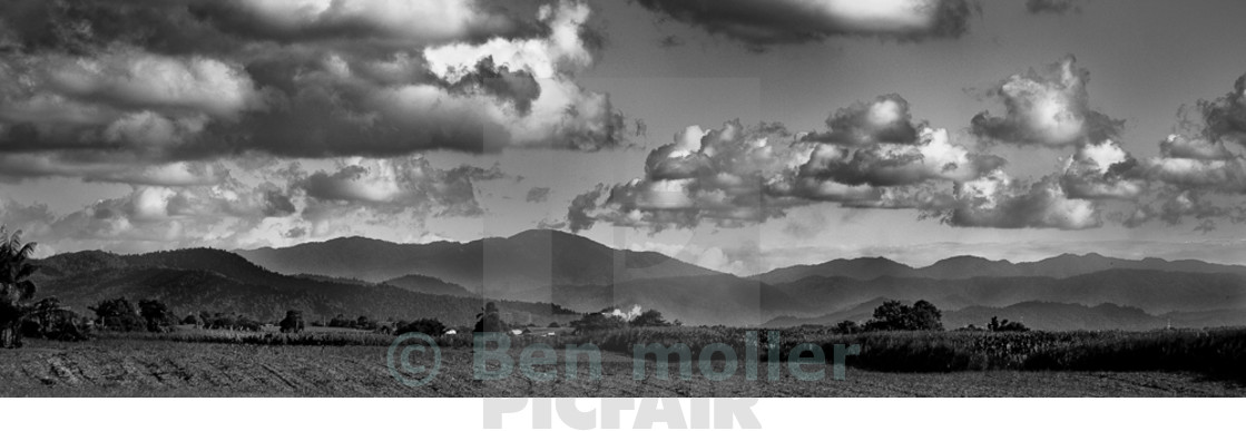 """view of highland far north queensland australia"" stock image"