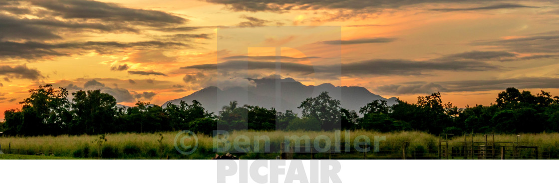 """tropical sunset"" stock image"