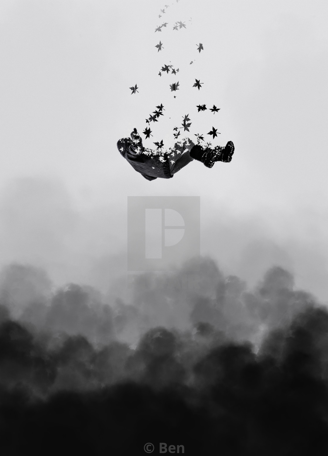 """Falling to Pieces"" stock image"