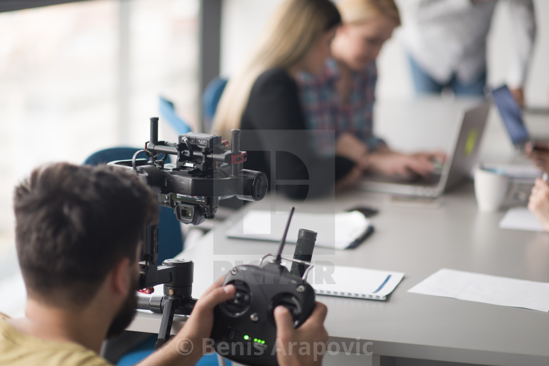 """videographer at work"" stock image"