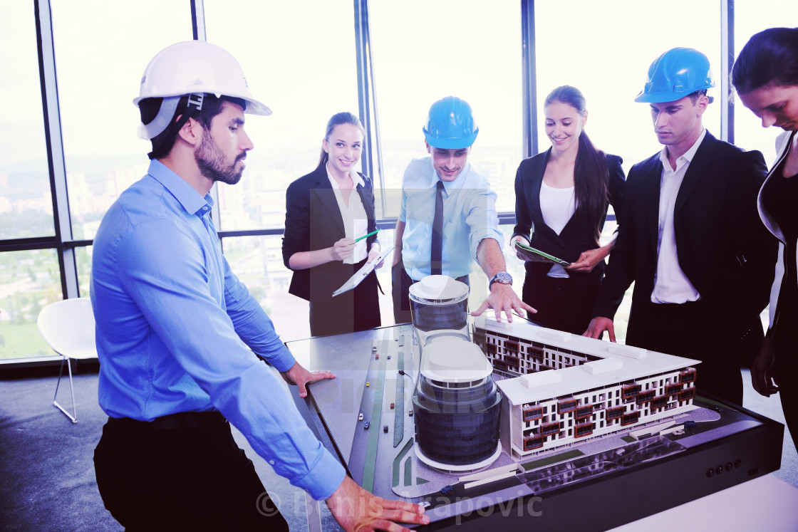 """business people and engineers on meeting"" stock image"