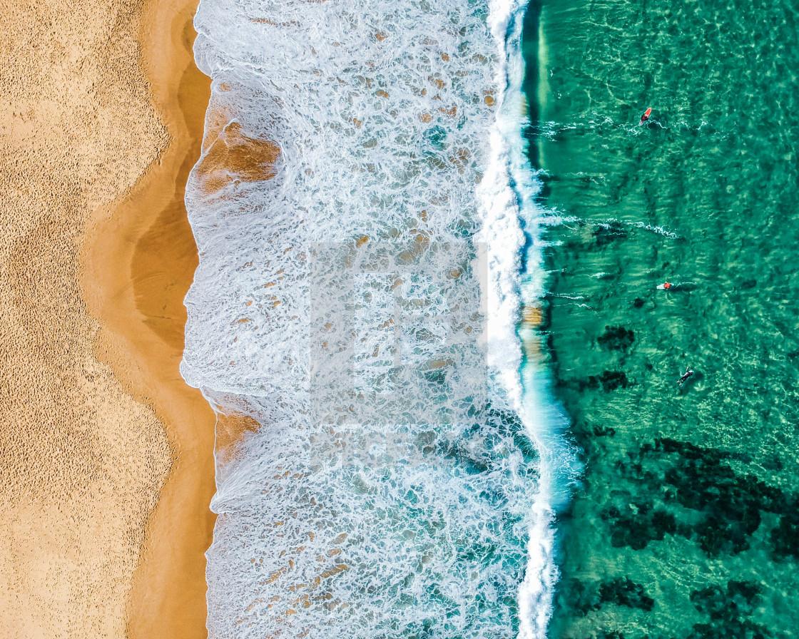 """Aerial Australian Beach"" stock image"