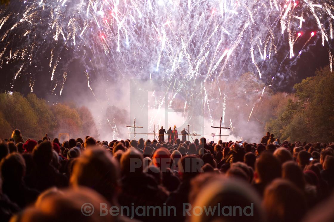 """Lewes bonfire night fireworks"" stock image"
