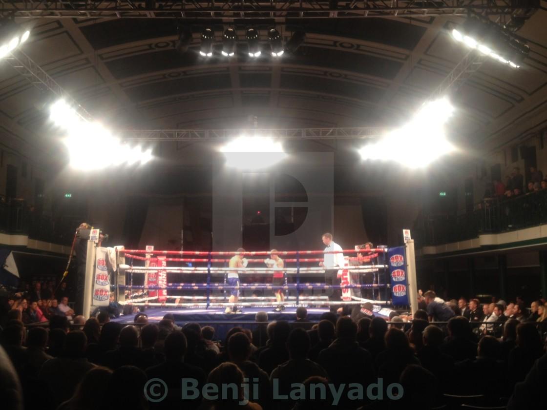 """Boxing at York Hall"" stock image"