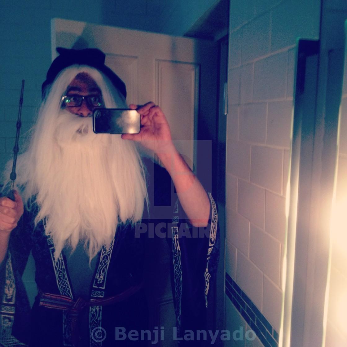 """""""Dumbledore Selfie"""" stock image"""