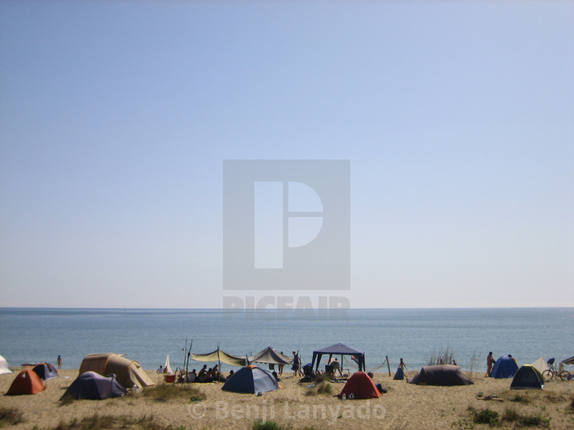 Bulgarian Black Sea camping - License, download or print for