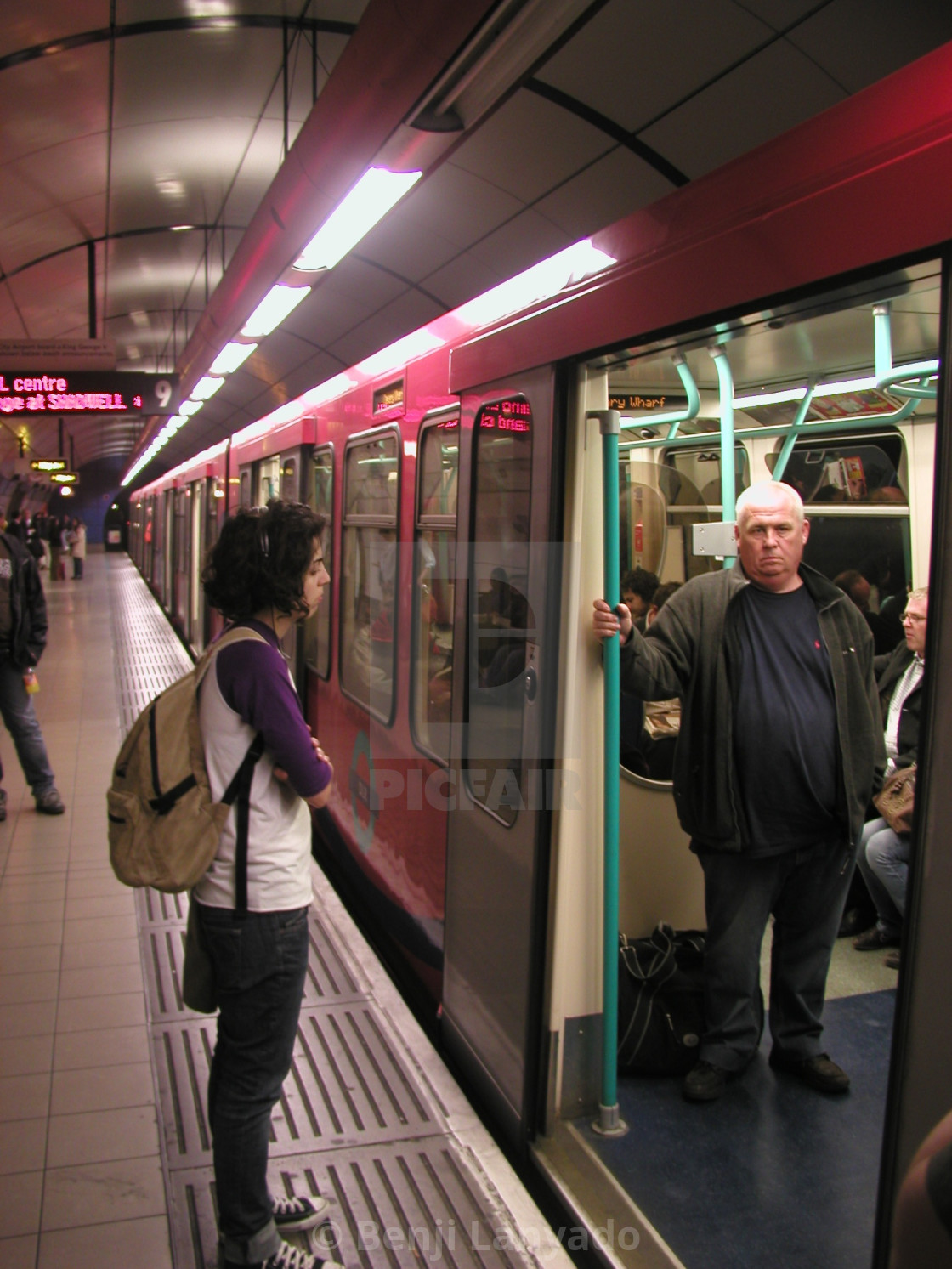 """Waiting for the DLR"" stock image"