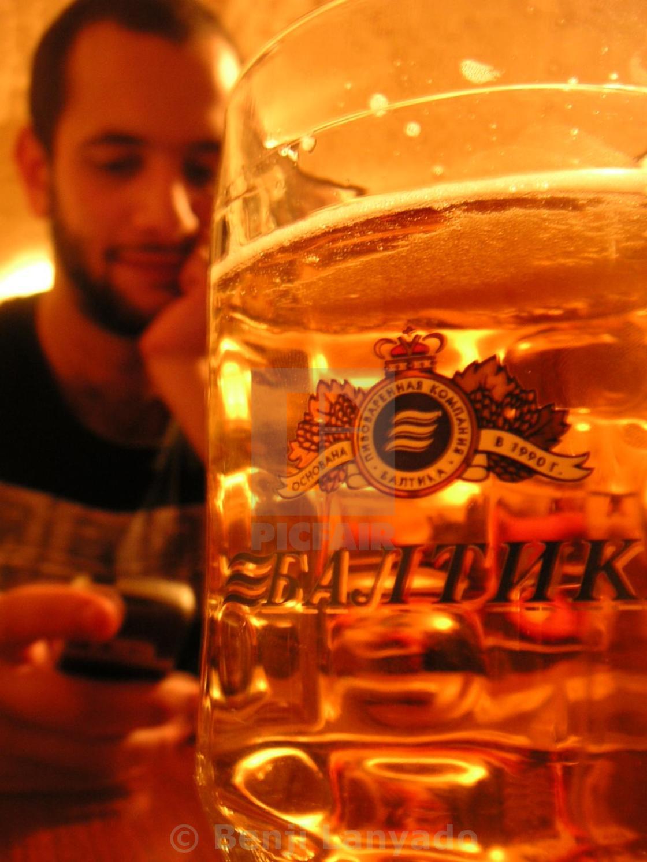 """St Petersburg Beer"" stock image"