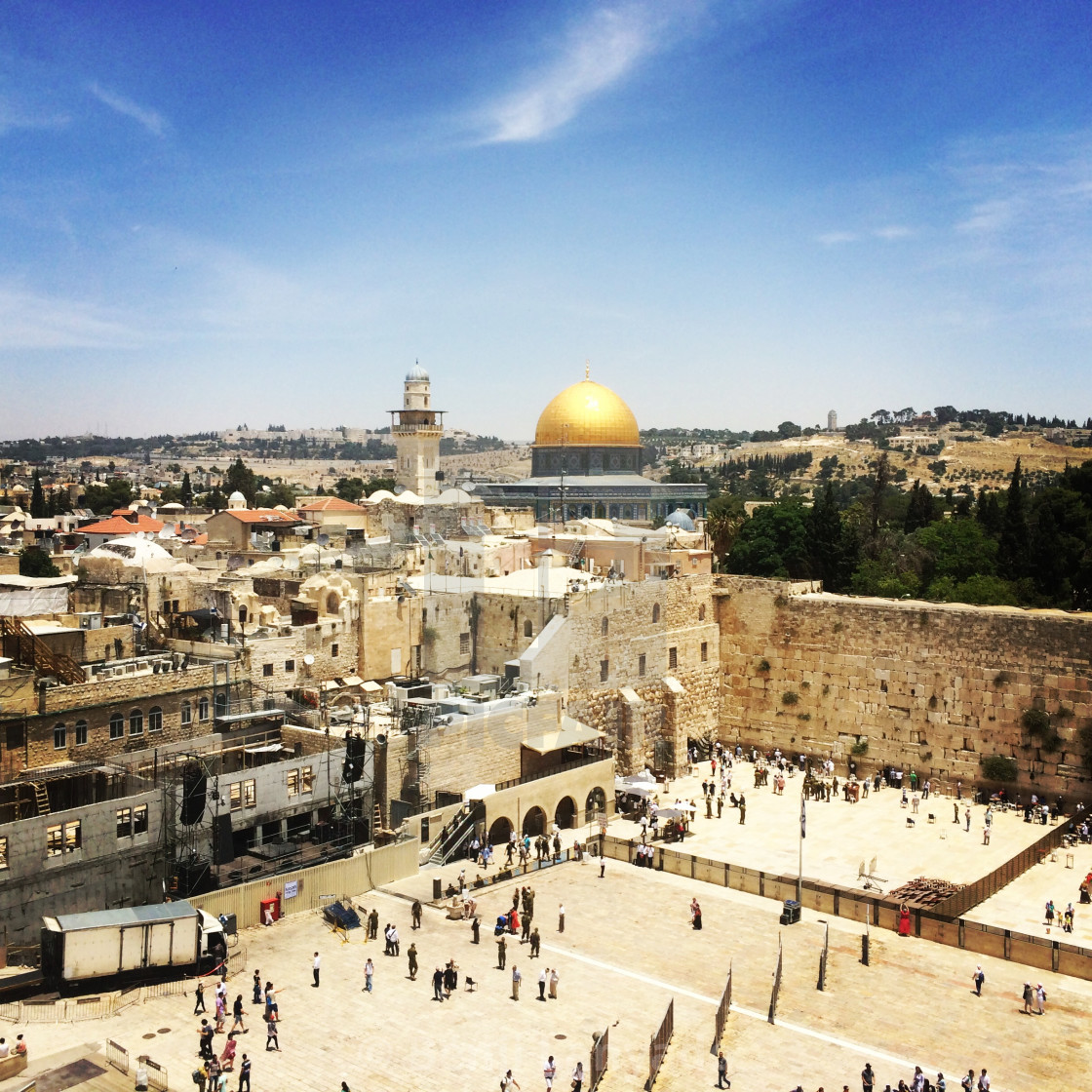 """""""Western Wall & Dome of the Rock"""" stock image"""