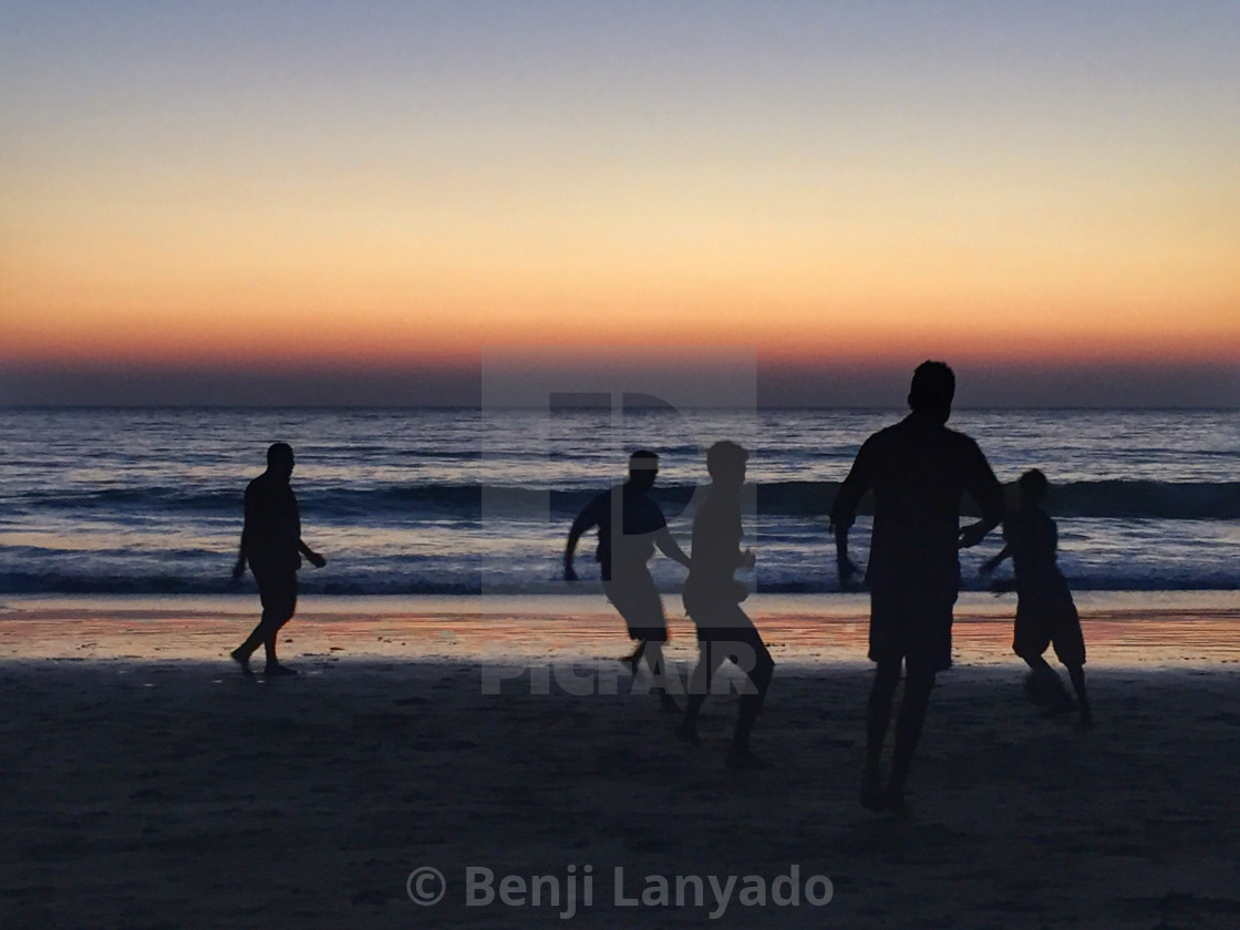 """Beach football"" stock image"