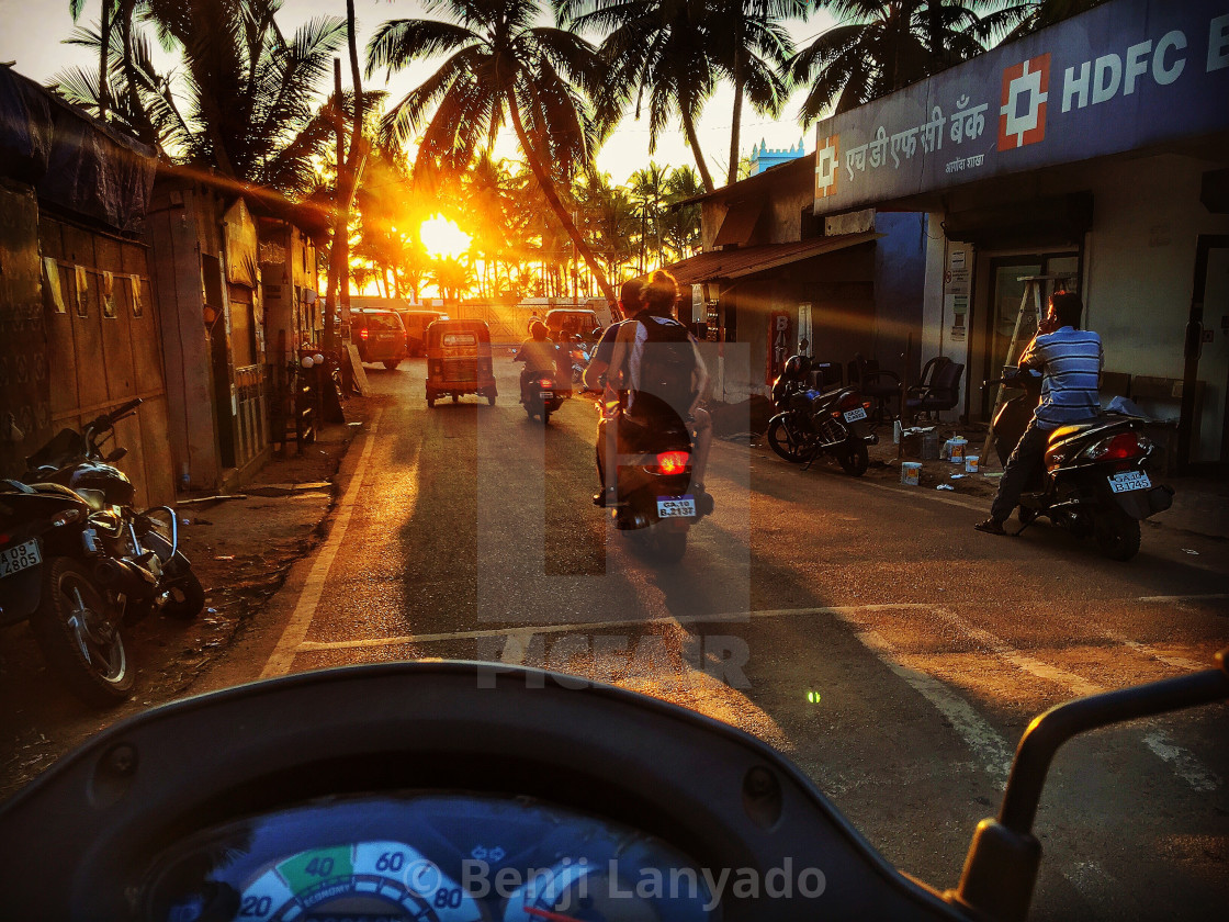 Scooter driving in Goa