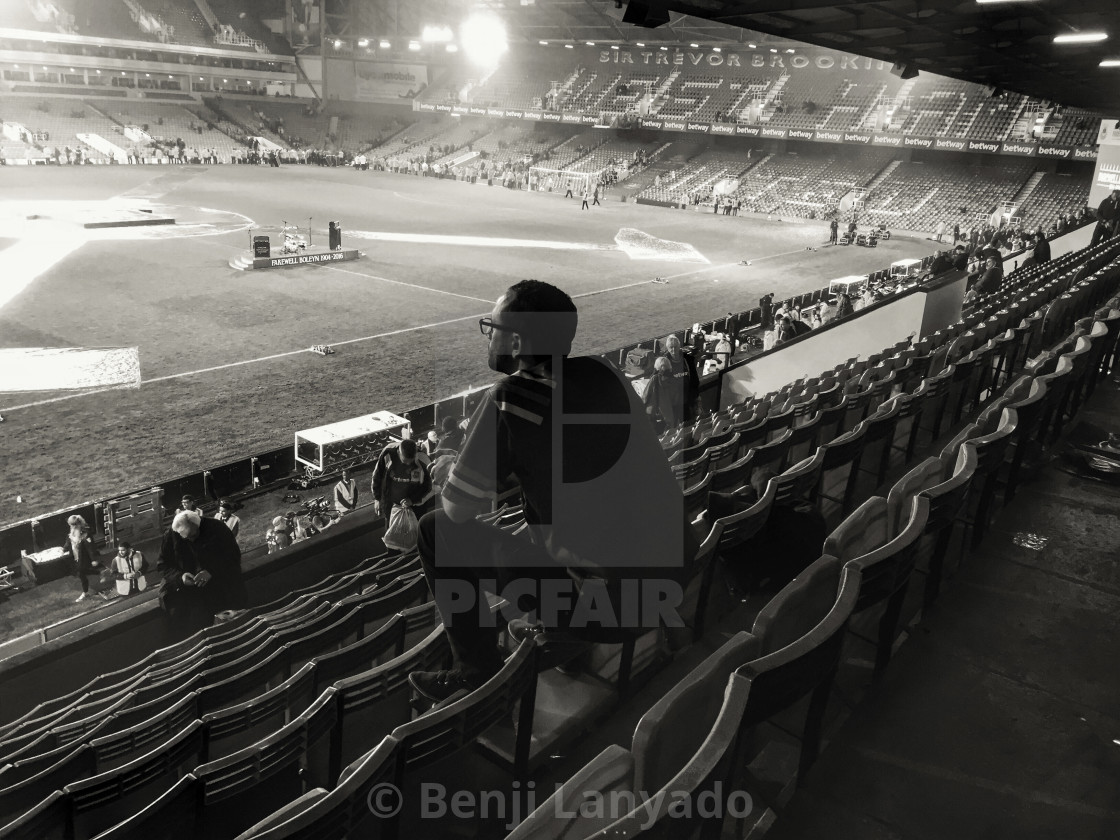 """Goodbye Upton Park"" stock image"