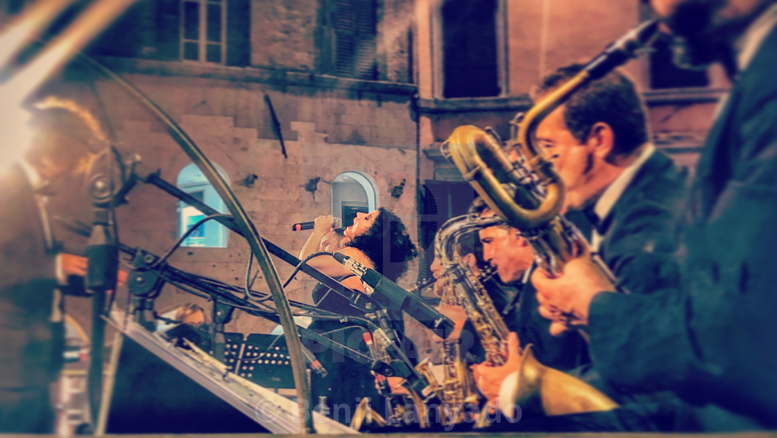 """Jazz singer in Perugia"" stock image"
