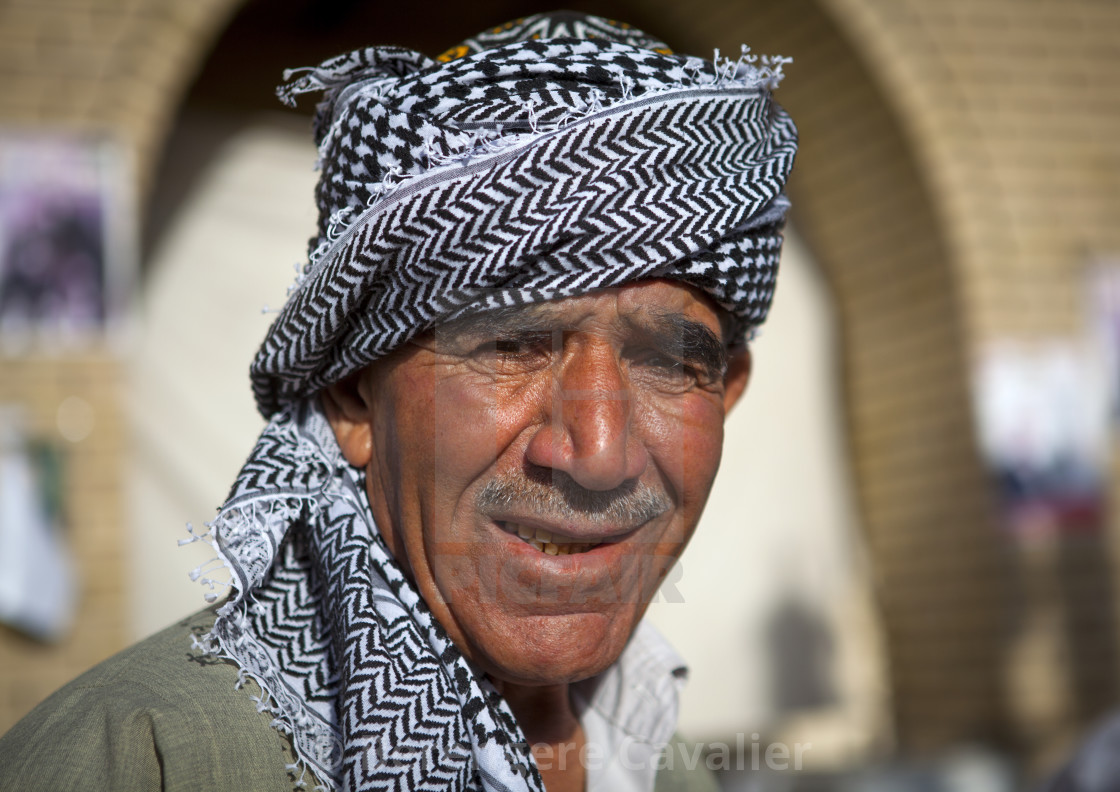 """Smiling Kurdish Man, Erbil, Kurdistan, Iraq"" stock image"
