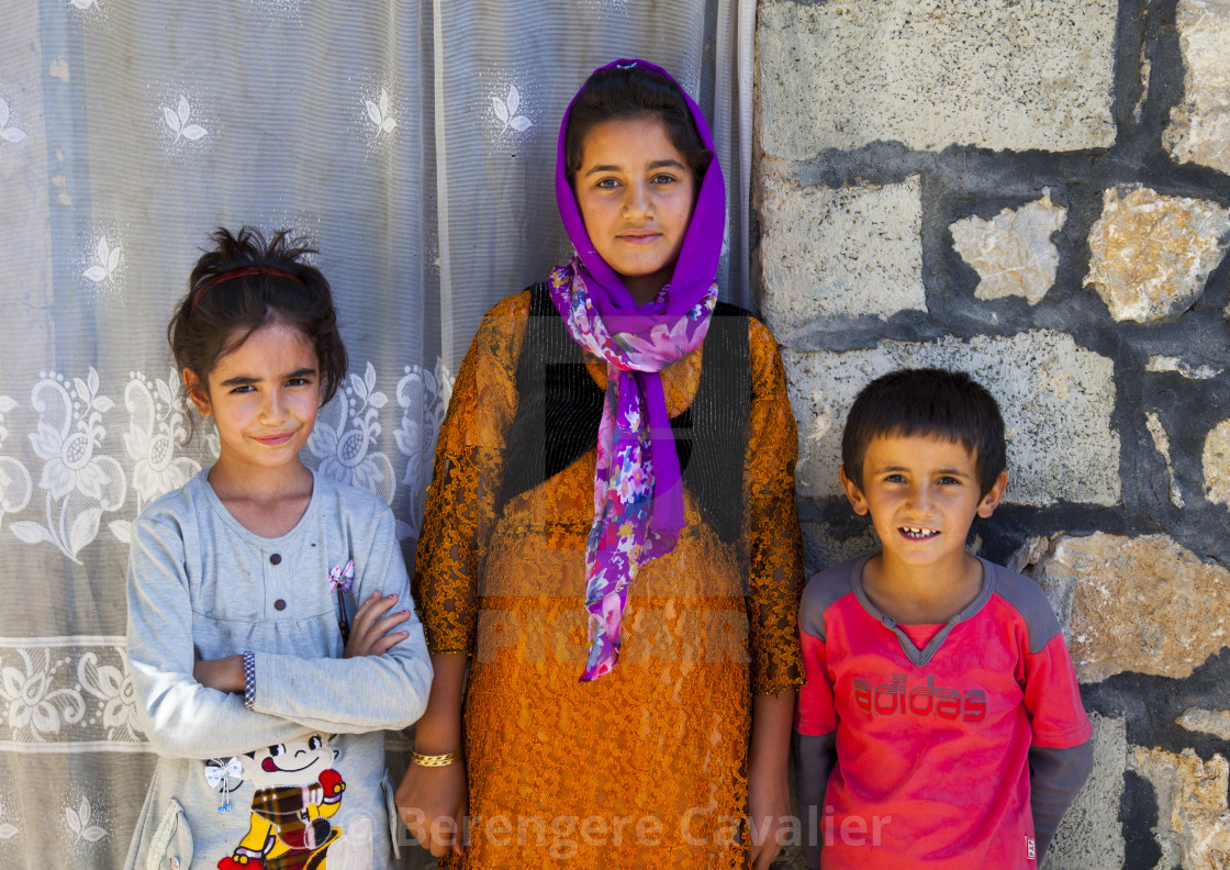 """Kurdish Children, Palangan, Iran"" stock image"