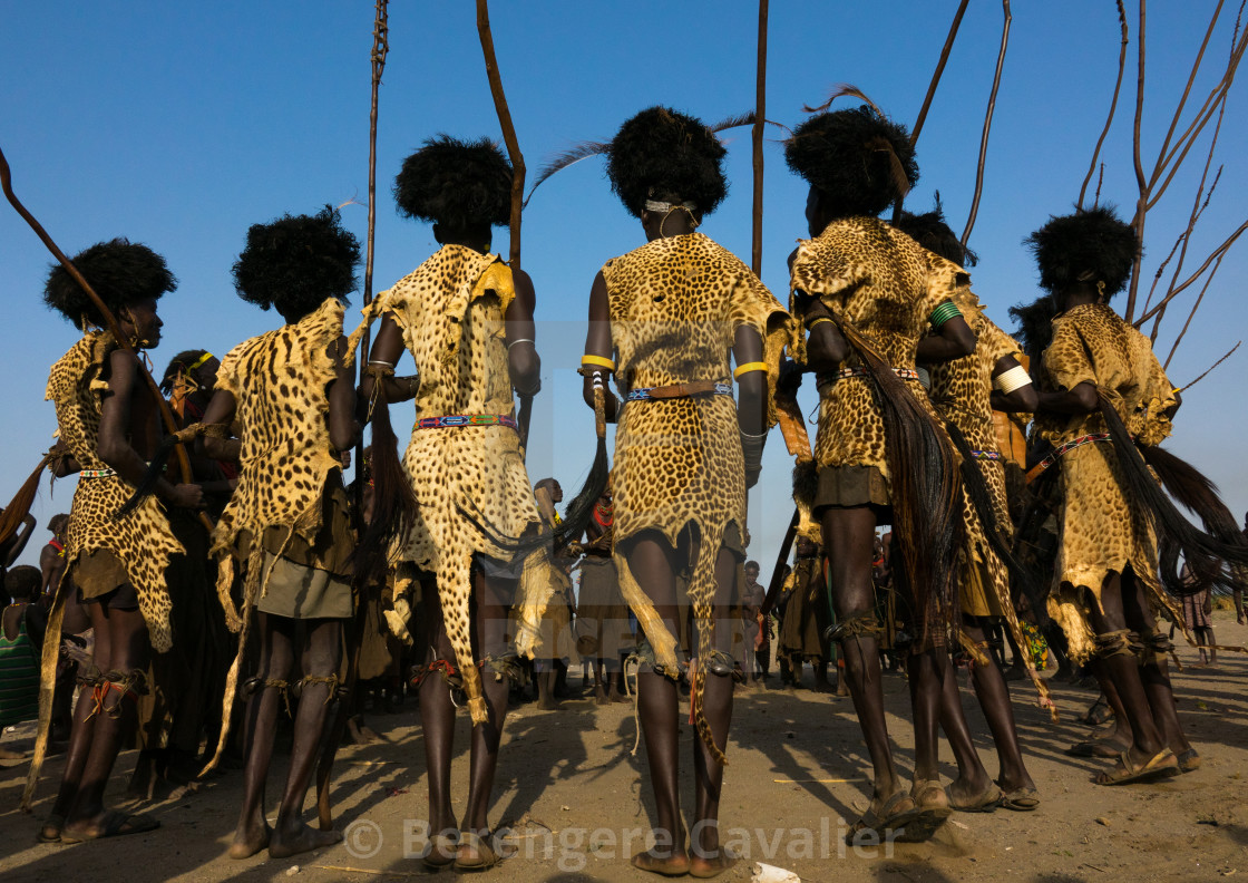 """Dassanech Dimi ceremony to celebrate circumcision of teenagers, Sies,Turkana..."" stock image"