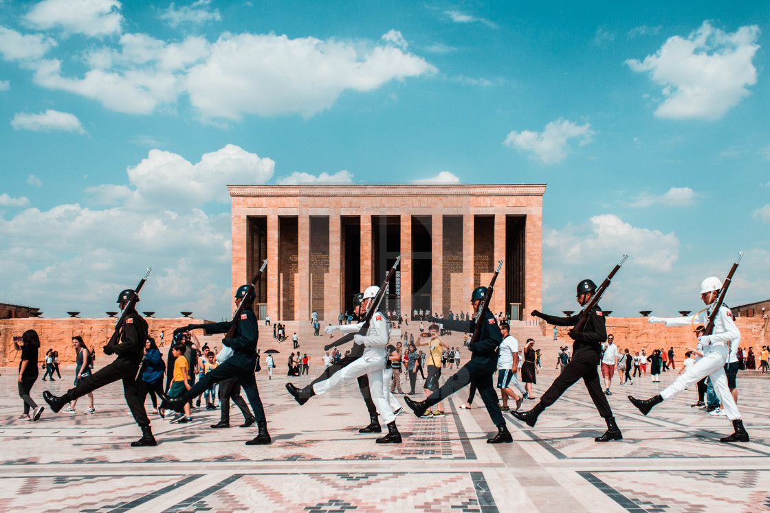"""Guards at The Mausoleum of Atatürk"" stock image"