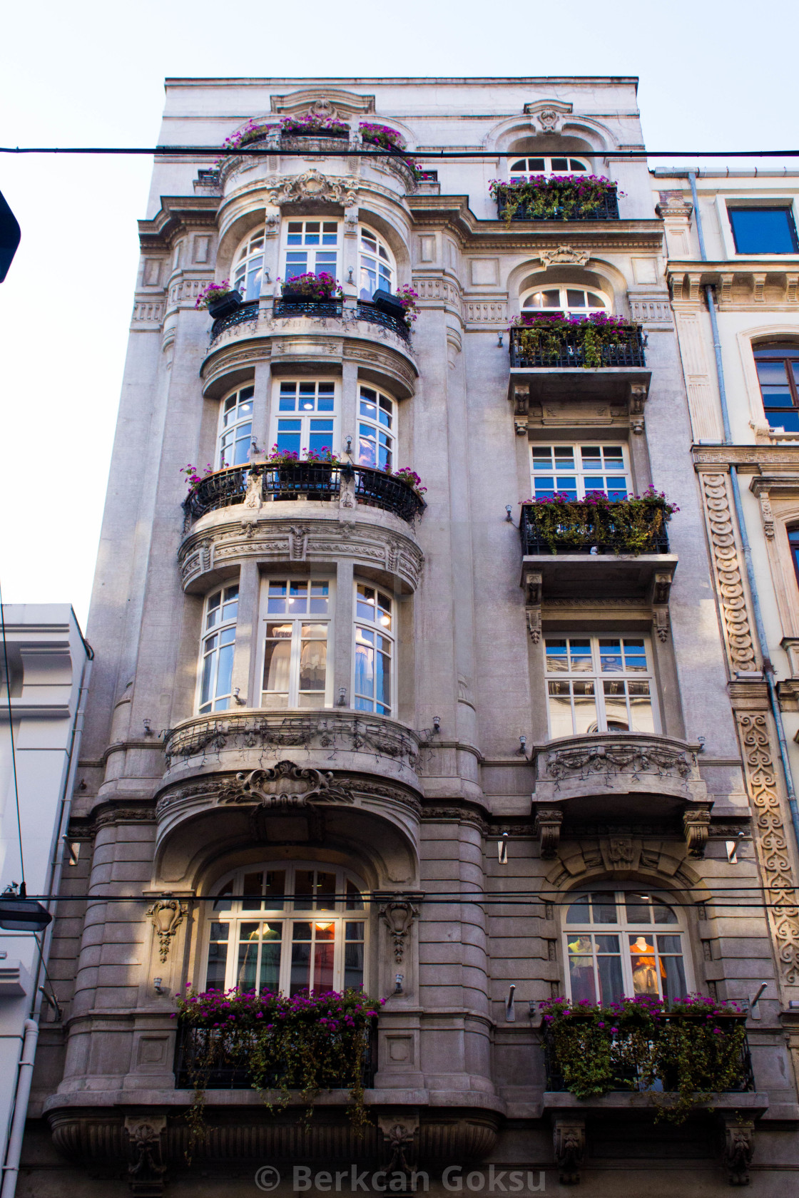 """Building on the Istiklal Avenue in Istanbul"" stock image"