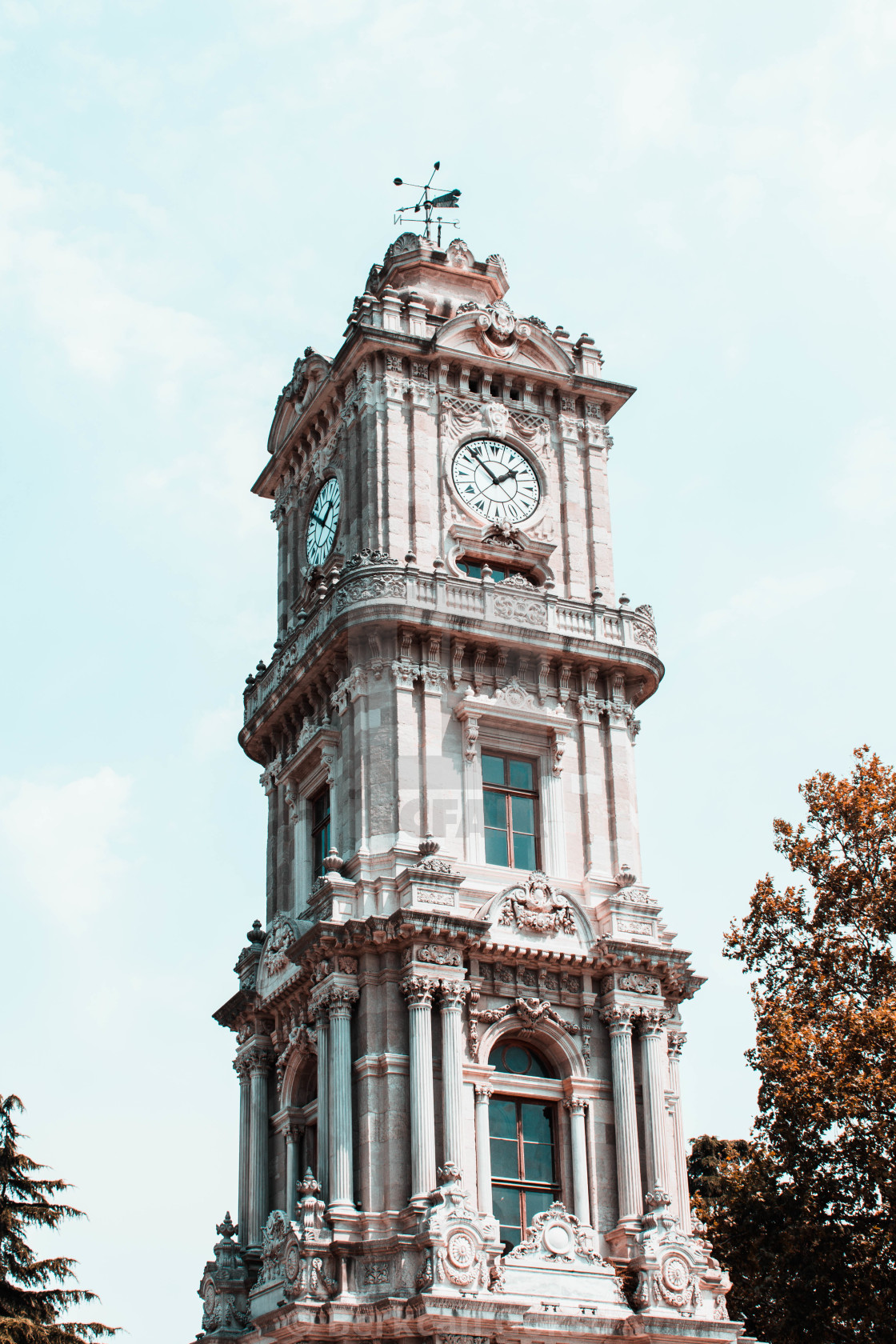 """clock tower in istanbul"" stock image"