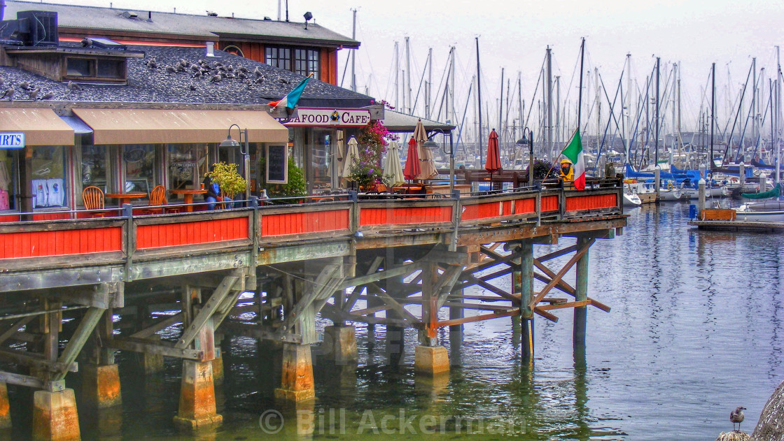"""Monterey Bay Seafood Cafe"" stock image"
