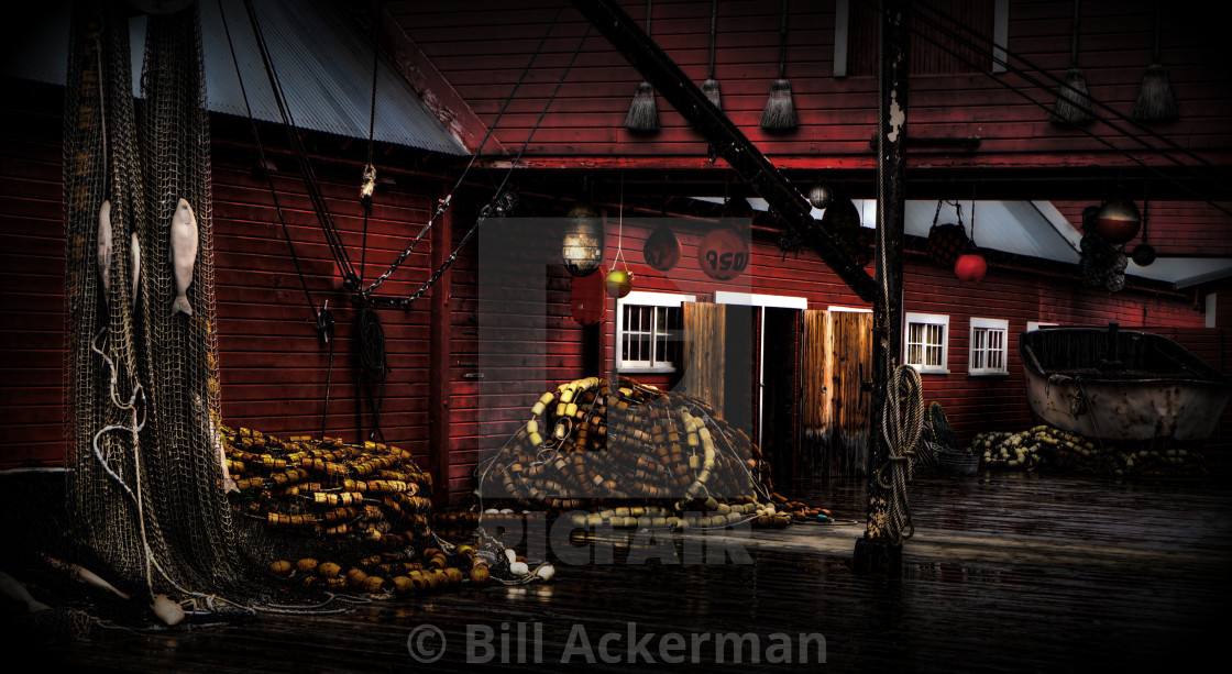 """""""Salmon Cannery"""" stock image"""