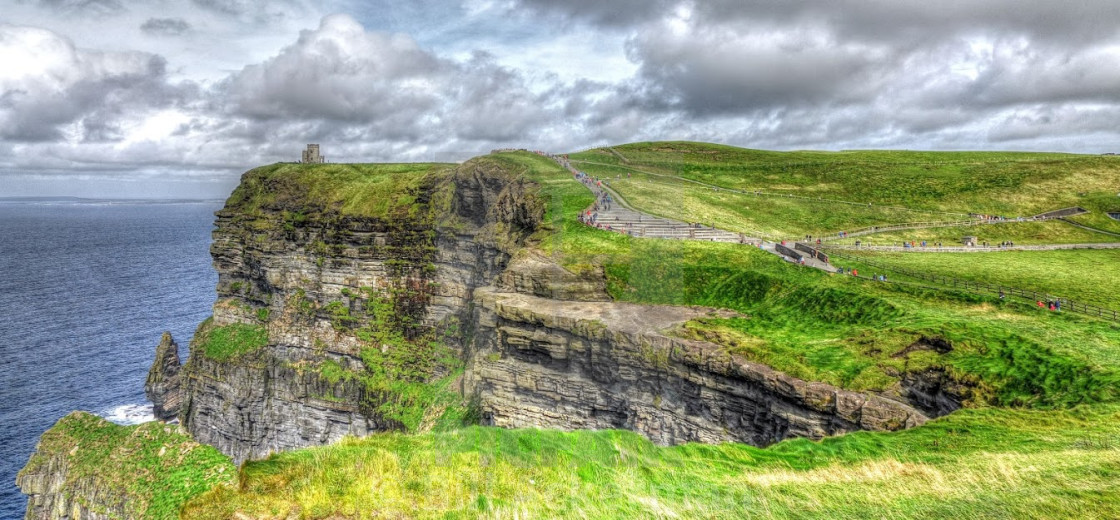 """""""Cliffs of Moher, Western Ireland"""" stock image"""