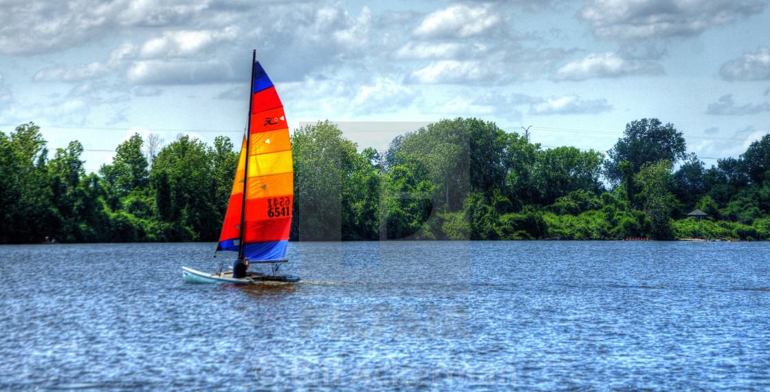 """Sailing on the Lake"" stock image"