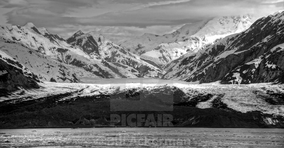 """St. Elias Mountains, Yakutat Bay, Alaska"" stock image"