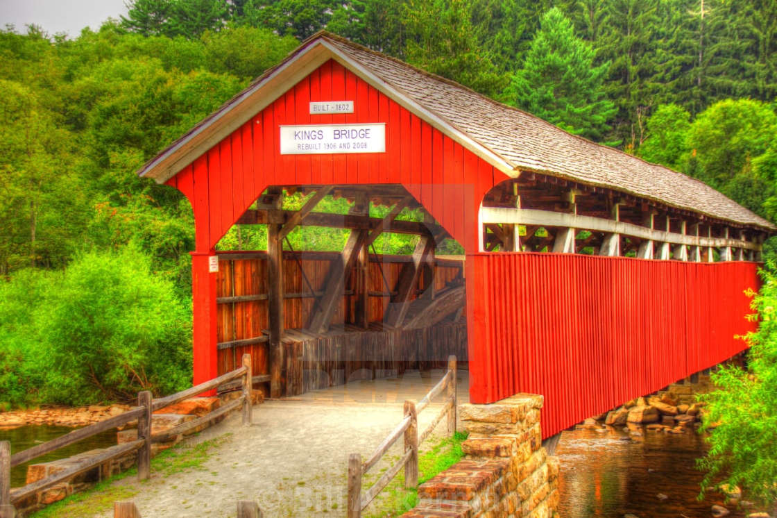 """Covered Bridge"" stock image"