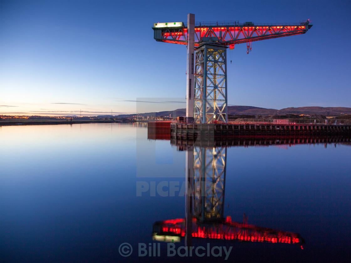 """""""Titan Crane Clydebank"""" stock image"""